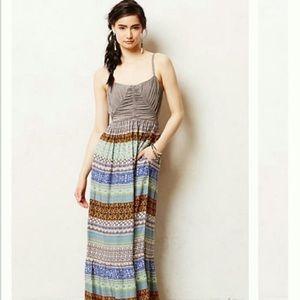 Anthropologie Lilka patterned Maxi Dress